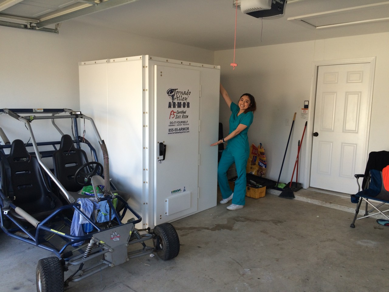 Diy do it yourself tornado safe room customer install for Buy safe room
