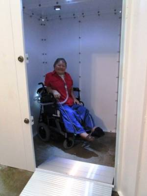 Our Safe Rooms Can Be! We Offer Options To Make Our Storm Shelters ADA Handicap  Accessible. Your First Option Is To Use Our Standard 30 Inch Door And Add  ...