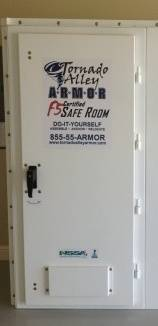 Questions? Give us a call toll free at 855-55-ARMOR or find more information on our website .tornadoalleyarmor.com & About the Tornado Shelter Door- a FEMA 320 Compliant EF-5 rated ...