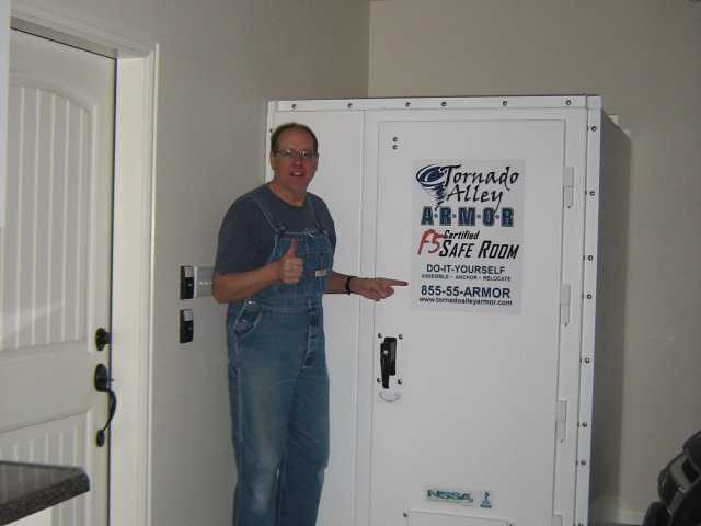 Ed In Lindale Texas Diy Bolt Together Tornado Shelter